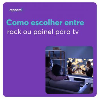 Como escolher entre rack ou painel para tv na decoração