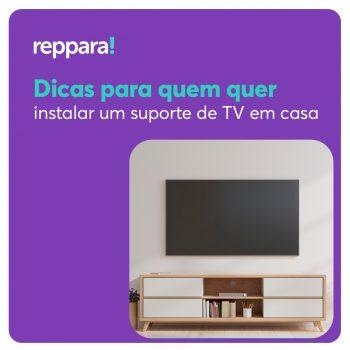 Mesmo sendo comuns na época das antigas TVs de tubo, hoje a procura pela instalação de suportes de TV é grande.