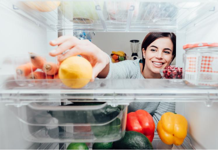 como guardar os alimentos na geladeira